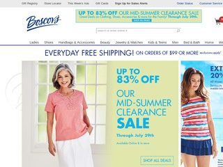 Go to Boscov's website.