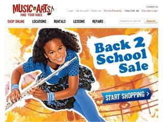 This is what the musicarts.com website looks like.