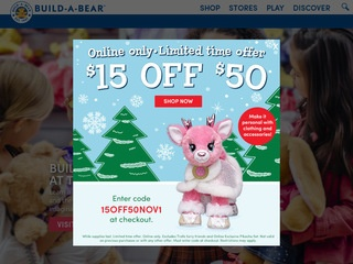 Go to buildabear.com website.