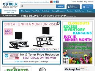 Go to Bulk Office Supplies website.