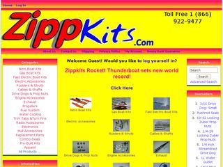 This is what the zippkits.com website looks like.