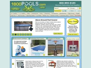 This is what the 1800pools.com website looks like.