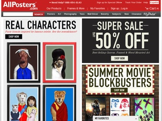 This is what the allposters.com website looks like.