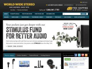 This is what the wwstereo.com website looks like.