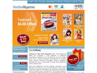 This is what the bestdealmagazines.com website looks like.