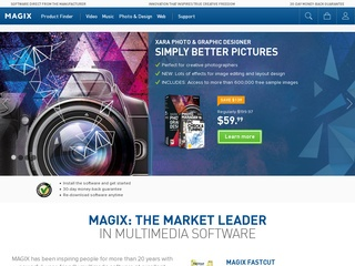 Go to magix.com website.