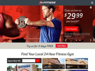 This is what the 24hourfitness.com website looks like.