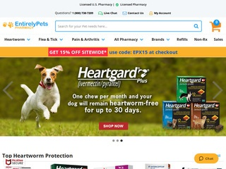 Go to ENTIRELYPETS PHARMACY (EPRX) website.