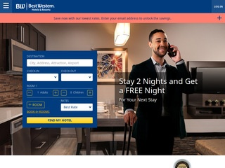 This is what the bestwestern.com website looks like.