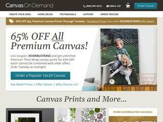 Go to canvasondemand.com website.