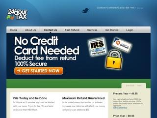 This is what the 24hourtax.com website looks like.