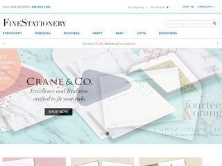 Go to finestationery.com website.