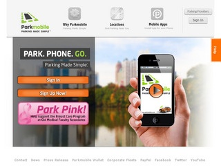 This is what the parkmobile.us website looks like.