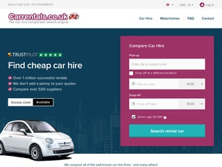 Go to carrentals.com website.