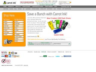 screenshot of Carrot Ink website