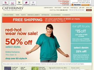 Go to catherines.lanebryant.com website.