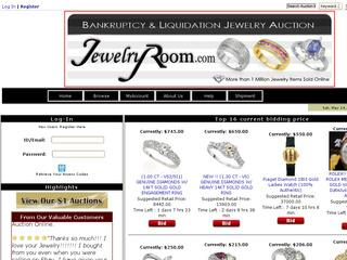 This is what the jewelryroom.com website looks like.