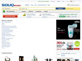 This is what the souq.com website looks like.
