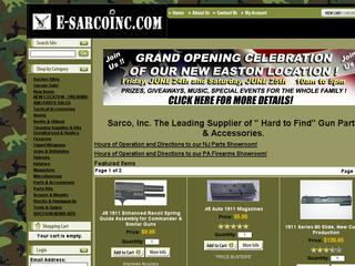 This is what the e-sarcoinc.com website looks like.