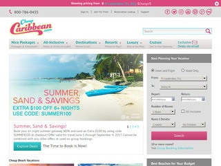 This is what the cheapcaribbean.com website looks like.