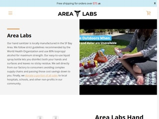 Go to arealabs.us website.