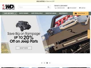 This is what the 4wd.com website looks like.