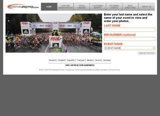 This is what the marathonfoto.com website looks like.