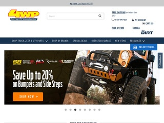 This is what the 4wheelparts.com website looks like.