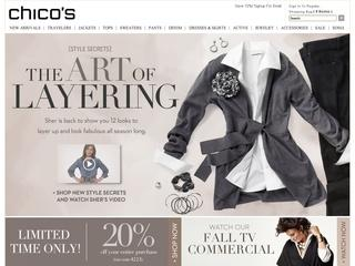 Go to chicos.com website.