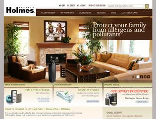 This is what the holmesproducts.com website looks like.