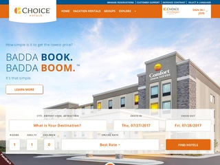 Go to Choice Hotels website.