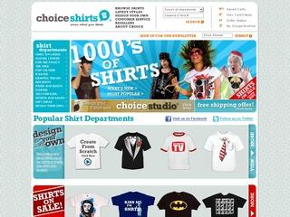 Go to choiceshirts.com website.