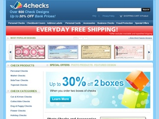 This is what the 4checks.com website looks like.