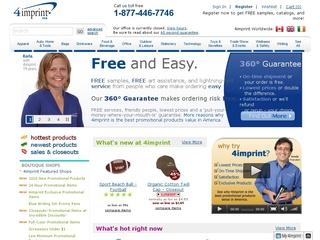 This is what the 4imprint.com website looks like.