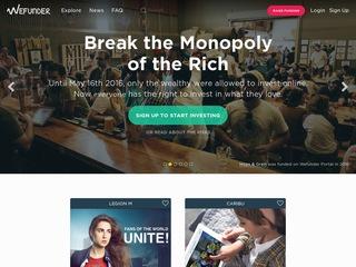 Go to wefunder.com website.