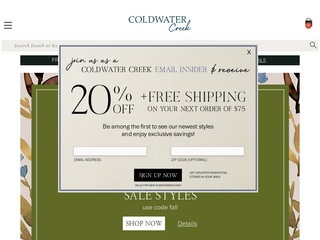 Go to Coldwater Creek website.