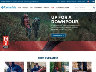 Go to Columbia Sportswear website.