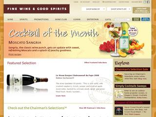This is what the finewineandgoodspirits.com website looks like.