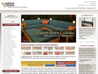 This is what the cushionsource.com website looks like.