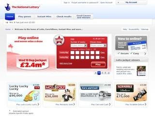 This is what the national-lottery.co.uk website looks like.