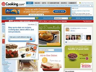 Go to cooking.com website.