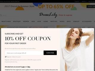Go to dresslily.com website.