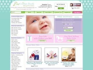 Go to cornerstorkbabygifts.com website.