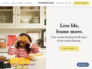 Go to framebridge.com website.