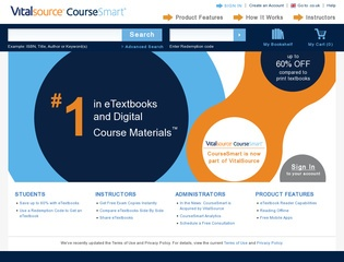 Go to coursesmart.com website.