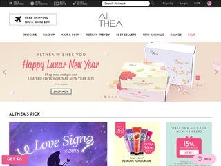 Go to us.althea.kr website.