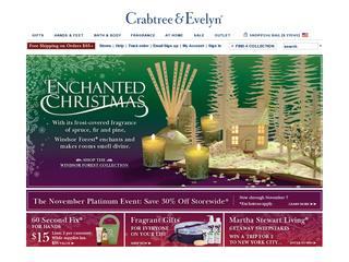 This is what the crabtree-evelyn.com website looks like.
