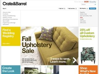 This is what the crateandbarrel.com website looks like.
