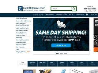 Go to cableorganizer.com website.