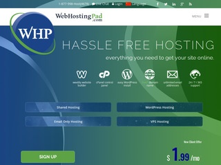 Go to webhostingpad.com website.